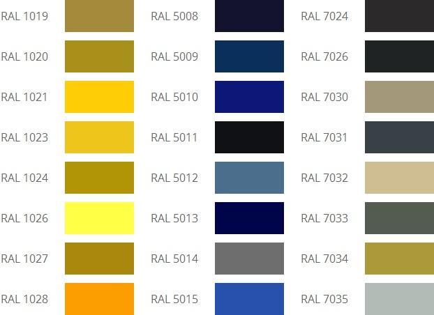 Цвет по каталогу RAL