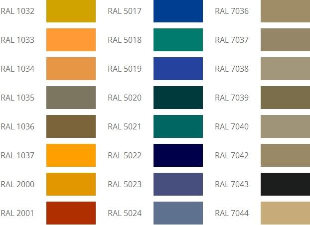 Цвет RAЛ для фасада