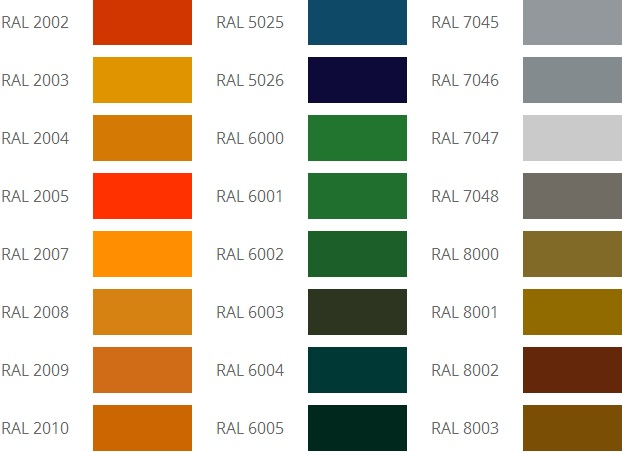 RAL фото цвета